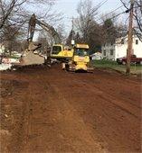 digging road