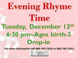 Evening Rhyme Time Enfield Library