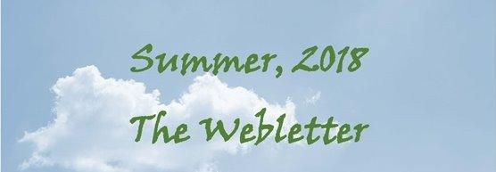 Summer 2018 The Webletter