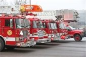 picture of Enfield fire trucks