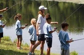 Photo of children fishing