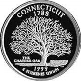 Picture of Charter Oak Tree on the back of a Connecticut quarter