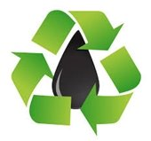 picture of oil and recycling symbol