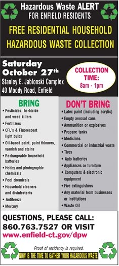 Hazardous Waste disposal flyer