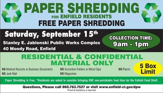 Paper Shredding Event Flyer