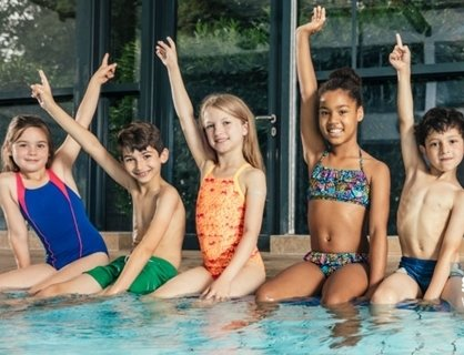 picture of children in a swimming pool