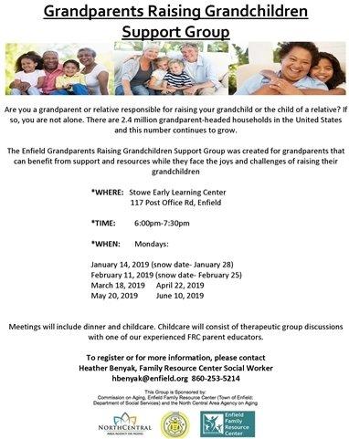 Grandparents Raising Grandchildren informational flyer