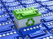 photo of automotive battery being recycled