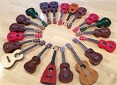 picture of ukuleles