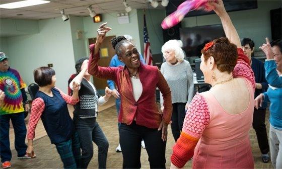Picture of seniors dancing