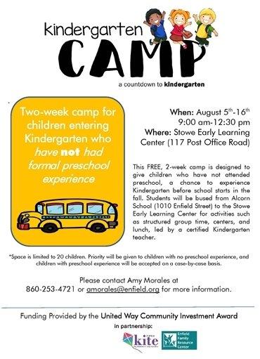 Picture of FRC Kindergarten Camp Flyer