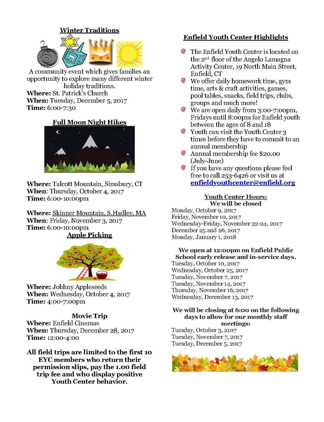 Fall Newsletter 2017 Pg 2