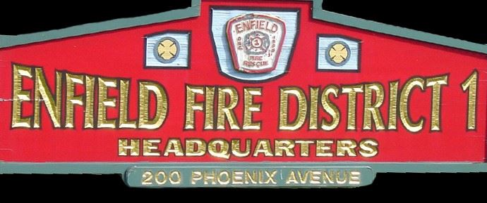 Enfield Fire Department Sign Logo