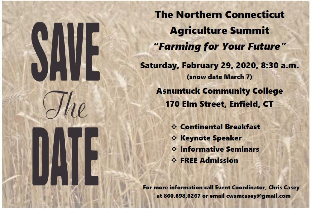 Agricultural Summit Save the Date Feb. 29, 2020