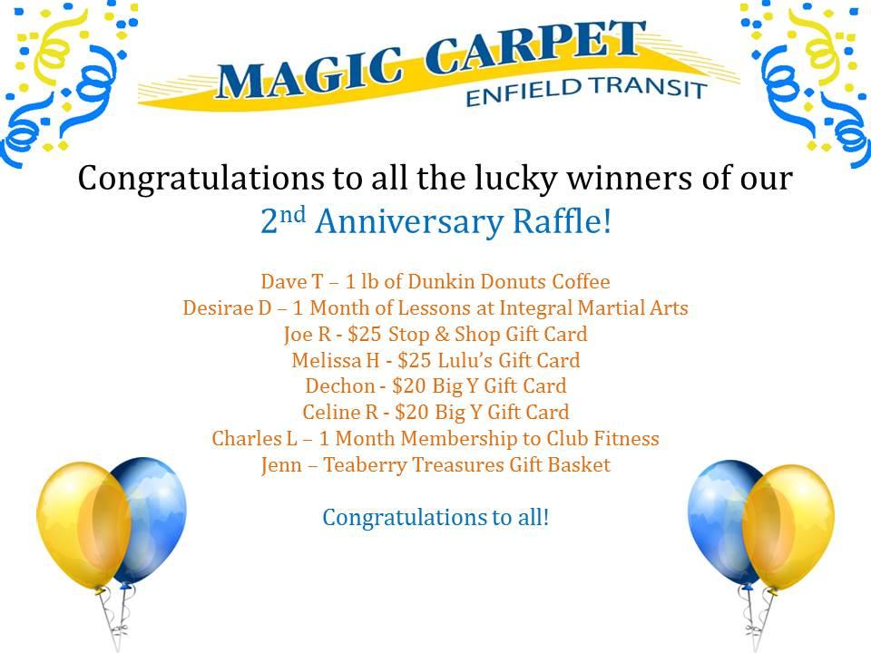 2nd raffle winners