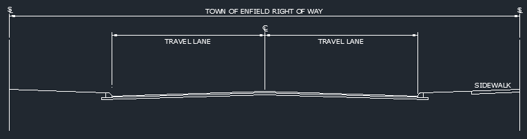 Drawing of a typical right-of-way
