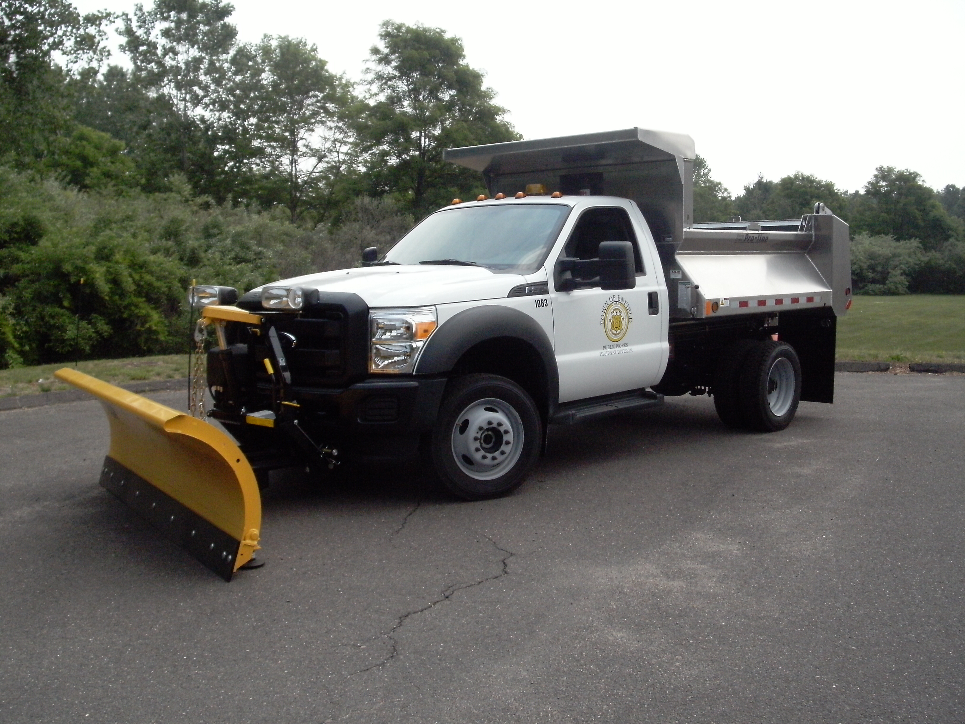 This truck replaced a 20-year old patch truck.  This new truck can also be used for snow plowing.
