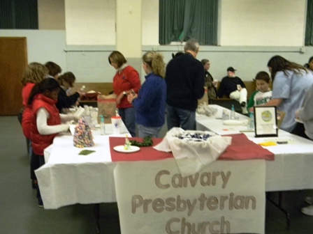 The Calvary Presbyterian Church hosts a holiday activity for their community