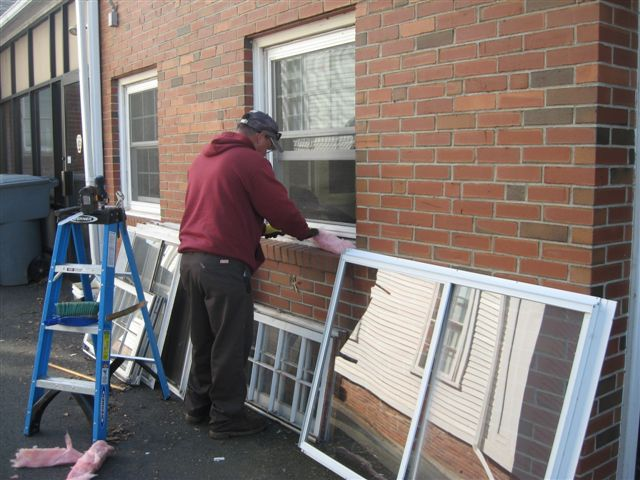 Installing Replacement Windows at the EMS Station