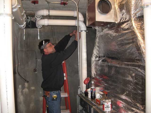 Installing 4 New Furnaces at Old Town Hall