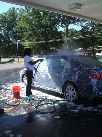 A participant gets a car cleaner than new
