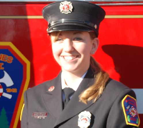 Firefighter Sarah Bewsee